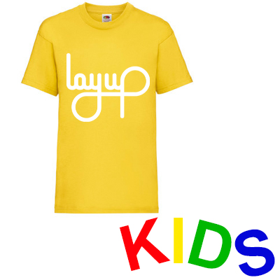 LAYUP T-Shirt LOGO yellow/white - Kids