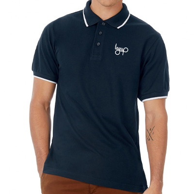 LAYUP Polo Shirt LOGO navy/white
