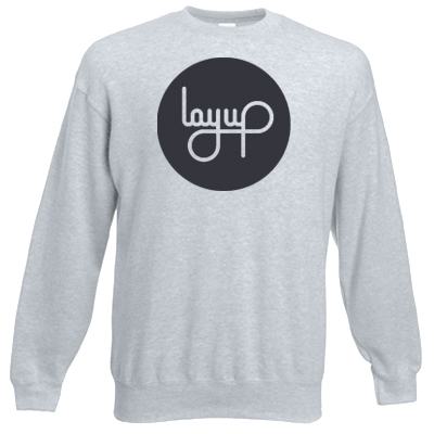 LAYUP Sweater CIRCLE LOGO heather grey/black
