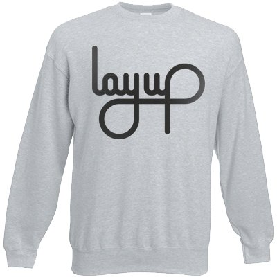 LAYUP Sweater LOGO heather grey/black