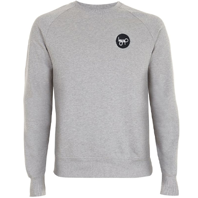 LAYUP Sweater PATCH heather grey