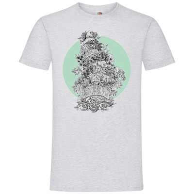 LAYUP T-Shirt DRÜEGG heather grey