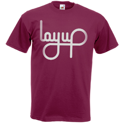 LAYUP T-Shirt LOGO burgundy/light grey