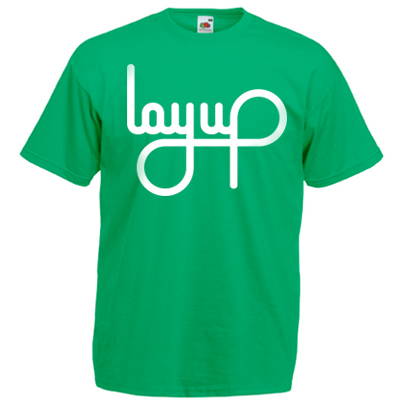 LAYUP T-Shirt LOGO kelly green