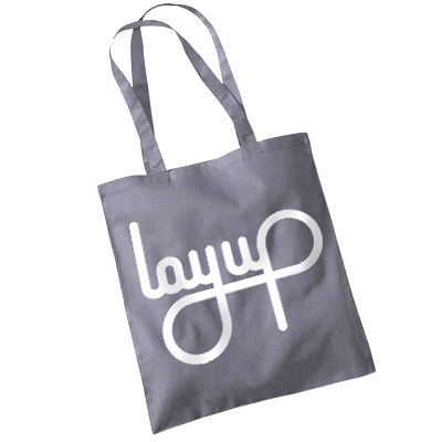 LAYUP Tote Bag LOGO dark grey/white