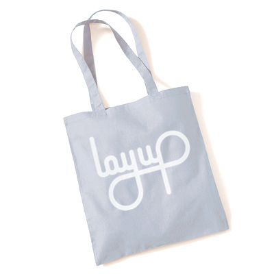 LAYUP Tote Bag LOGO grey