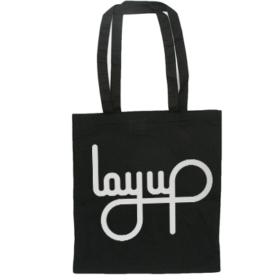 LAYUP Tote Bag LOGO cotton black
