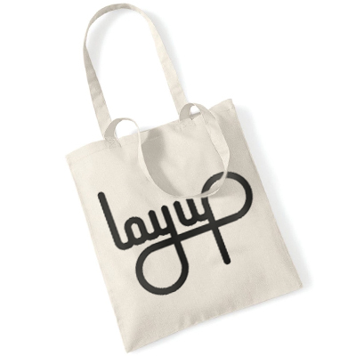LAYUP Tote Bag LOGO natural/black