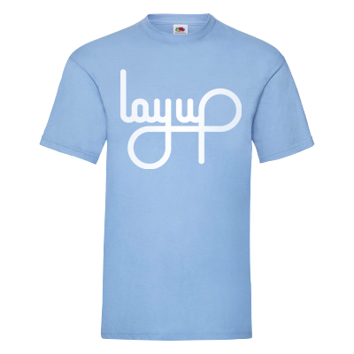 LAYUP T-Shirt LOGO light blue/white
