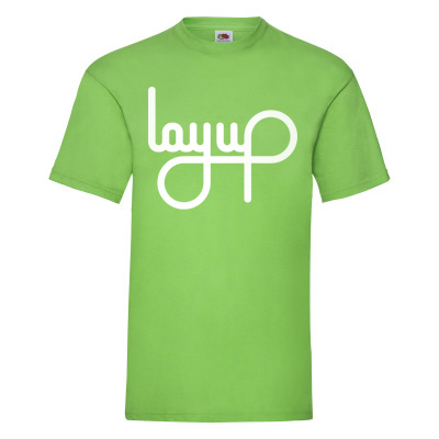 LAYUP T-Shirt LOGO lime green/white