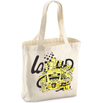 LAYUP Tote Bag BERN CITY LIFE natural/yellow