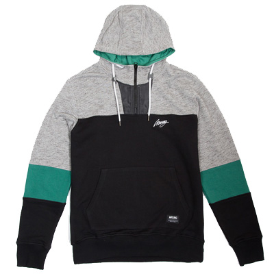 WRUNG Hoody LIFE black/grey/green