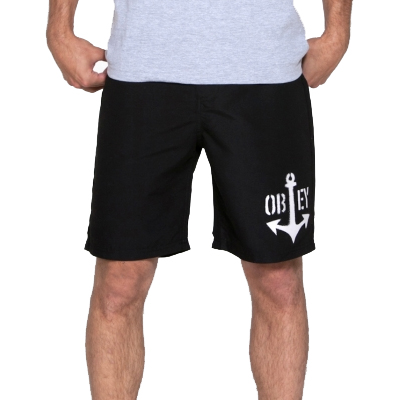 OBEY Board Shorts NO LIFEGUARD black