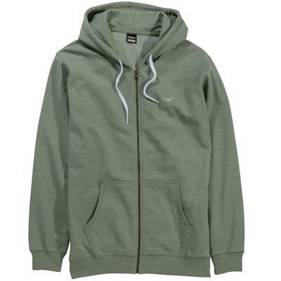 CLEPTOMANICX Hooded Zipper LIGULL II heather oil green