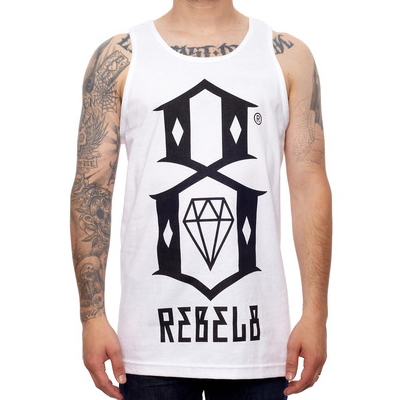 REBEL8 Tank Top LOGO white