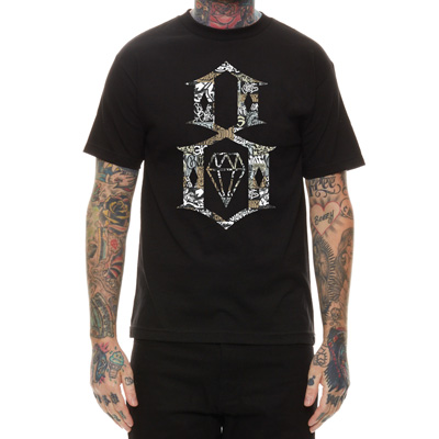 REBEL8 T-Shirt LOGO 8 GIANT COLLAGE black
