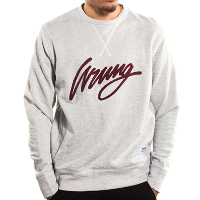 WRUNG Sweater LOGO SIGN heather grey