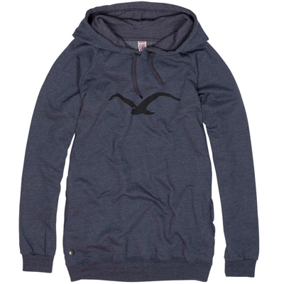 CLEPTOMANICX Girl Long Hoody MÖWE heather dark navy