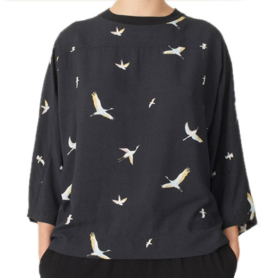 CLEPTOMANICX Girl Longsleeve BATWING bird allover