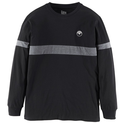 CLEPTOMANICX Longsleeve FIFTY-FIFTY PATCH black