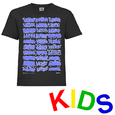 LAYUP T-Shirt LOUANE HIGHLIGHTS black/blue - Kids
