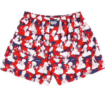 LOUSY LIVIN Boxershorts GHOSTS navy/red