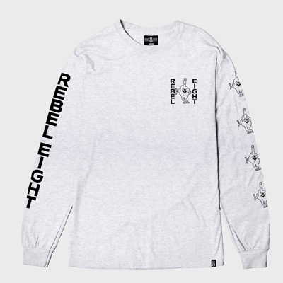 REBEL8 Longsleeve LOUSY heather grey