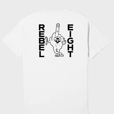REBEL8 T-Shirt LOUSY white