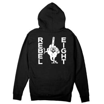 REBEL8 Hooded Zipper LOUSY black