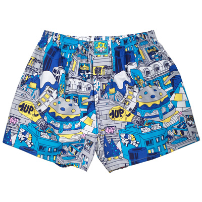 LOUSY LIVIN x 1UP Boxershorts ONE UP white/multi