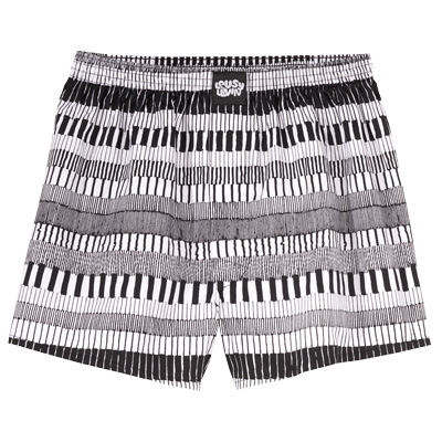 LOUSY LIVIN Boxershorts STRIPES white/black
