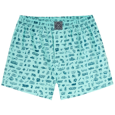 LOUSY LIVIN x 1UP Boxershorts 1UPLIVIN 2.0 beach glass