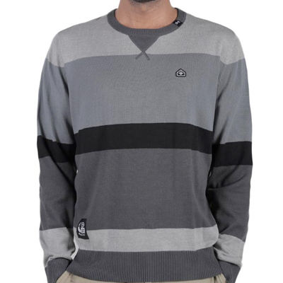 LRG Knit Sweater ROUTE 47 dark charcoal