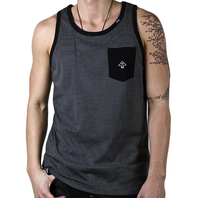 LRG Tank Top YD STRIPE black
