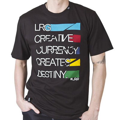 LRG T-Shirt CREATIVE CURRENCY black