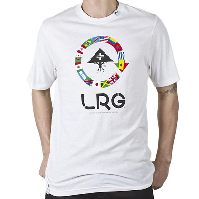 LRG T-Shirt MORE YOU TRAVEL white