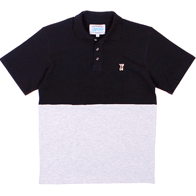 ANTEATER Polo Shirt COMBO black/heather grey