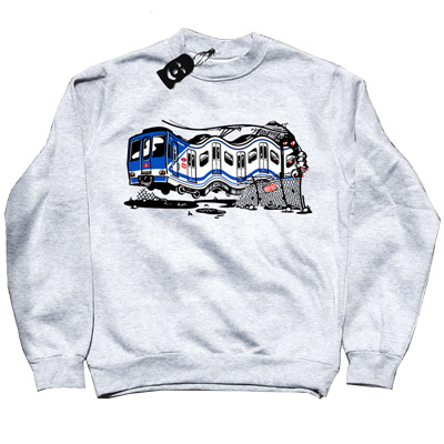 VANDALS ON HOLIDAYS Sweater MADRID light grey