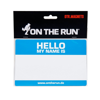 OTR Magnetic Sticker HELLO MY NAME (Medium) blue
