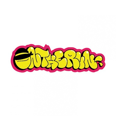 OTR Magnetic Sticker THROW UP yellow