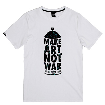 WRUNG T-Shirt MAKE ART white/black/turquoise