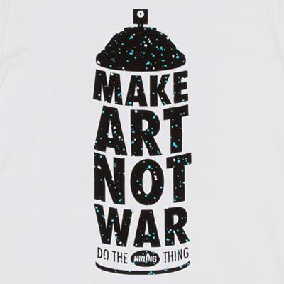 8ac38cf5b Wrung Division Paris - WRUNG Graffiti T-Shirt MAKE ART NOT WAR white ...