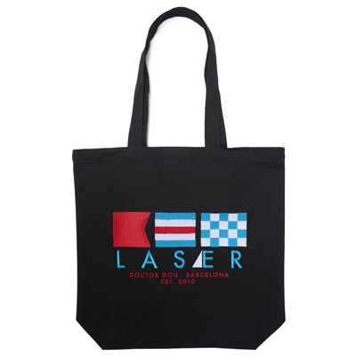 LASER Tote Bag MARBELLA black