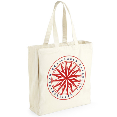 LASER Tote Bag MEDITERRANEAN SEA natural