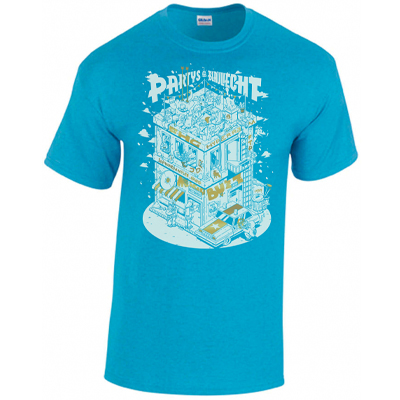 MIGO & BUZZ T-Shirt Partys im Blauliecht saphire heather
