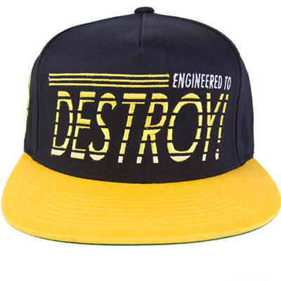MISHKA Snap Back Cap ENGINEERED TO DESTROY navy