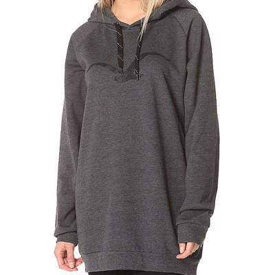 CLEPTOMANICX Girl Long Hoody MÖWE heather black