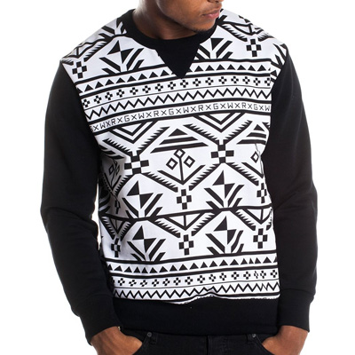 WRUNG Sweater MOHO white/black