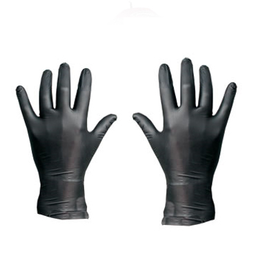 LATEX Gloves black (2 Pcs)