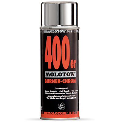 MOLOTOW Spraydose Burner Chrome 400ml silver